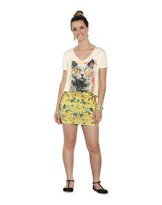 Saia curta estampada Amarelo Pina Colada « Lunender Store