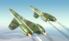 Focke-Wulf Ta-283 Interceptors . . .