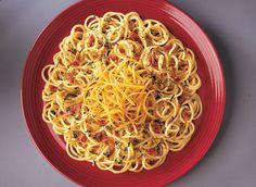 Spaghetti Carbonara with Cheddar