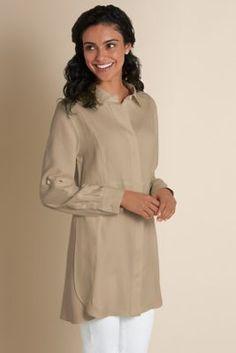 Perfect Silk Shirt - Silk Top, Womens Tunic Top   Soft Surroundings. Sale $70