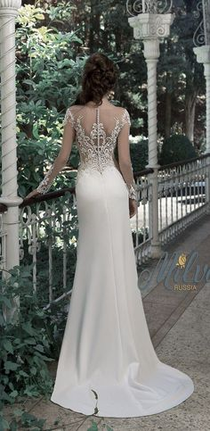 """Lace Wedding Dresses Milva 2017 Wedding Dresses – Sunrise Collection - Milva, a bridal house whose wedding dresses are designed with the elegant and classic bride in mind. The 2017 """"Sunrise"""" bridal collection is gorgeous. Bridal Wedding Dresses, Dream Wedding Dresses, 2017 Wedding, Bridesmaid Dresses, Dresses Elegant, Beautiful Dresses, Perfect Wedding Dress, Mode Inspiration, The Dress"""