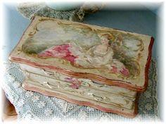 Vintage French Lady Keepsake Box