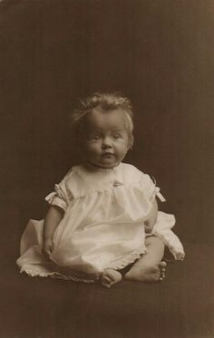 Lovely vintage photo of a baby named Barbara