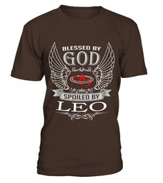 # LEO BLESSED BY GOD .  LEO BLESSED BY GOD  A GIFT FOR A SPECIAL PERSON   It's a unique tshirt, with a special name!   HOW TO ORDER:  1. Select the style and color you want:  2. Click Reserve it now  3. Select size and quantity  4. Enter shipping and billing information  5. Done! Simple as that!  TIPS: Buy 2 or more to save shipping cost!   This is printable if you purchase only one piece. so dont worry, you will get yours.   Guaranteed safe and secure checkout via:  Paypal | VISA…