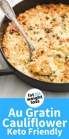 If you love bacon and cheese (hello comfort food classic) you're going to love this Au Gratin Cauliflower, also known as a keto cheesy bacon cauliflower gratin. You could even call it a low carb mac and cheese! What's different about it is that it uses thin slices of cauliflower, like a traditional gratin but instead of potato, I've used cauliflower to make it keto friendly. Ketogenic Cookbook, Ketogenic Recipes, Ketogenic Diet, Sugar Free Recipes, Low Carb Recipes, Rice Recipes, Easy Recipes, Gratin Dish
