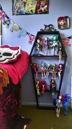 Monster high coffin shelf for sale 916-599-0873 More