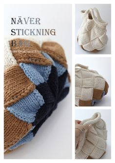 Crochet Tote, Crochet Purses, Knit Crochet, Knitted Bags, Knit Bag, Recycle Jeans, Knitting For Beginners, Knitting Needles, Knitting Projects