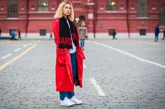 The Football Scarf Gets a Russian Street Style Makeover