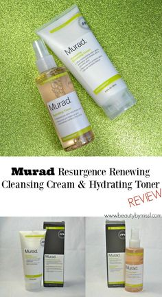 Murad Resurgence Renewing Cleansing Cream and Hydrating Toner review via…