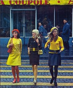 1960s street style.  Yellow has always been hot!