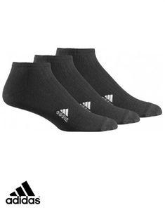 adidas sport 3 pack Ribbed liner Socks soft & Durable Junior black Z25997