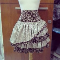 beautiful diy ruffle skirt with flower pattern