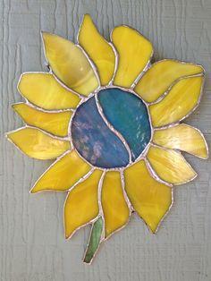 Sunflower stained glass #teampinterest
