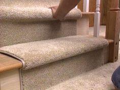 More click [.] Staircase Carpets Ideas Design How To Install Carpet Runner On Stairs Hgtvcom How To Install Carpet Runner On Stairs Hgtv Stairway Carpet, Carpet Stair Treads, Stair Rugs, Carpet Stairs, Staircase Railings, Laminate Flooring On Stairs, Installing Laminate Flooring, Hardwood Stairs, Rugs