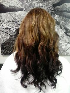 Ombre - red into deep eggplant