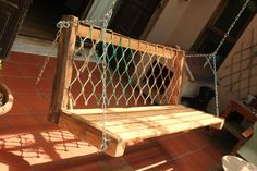 handmade swing from recycled elements Old Pallets, Recycling, Diy Projects, Iron, Handmade, Home, Hand Made, Recyle, Craft