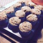 Muffin cioccolato bianco e fragole, con copertura crumble