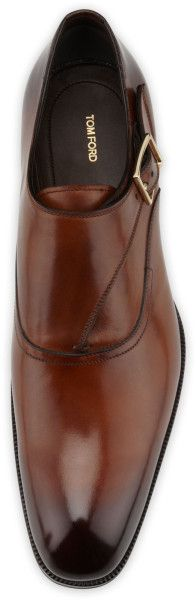 Tom Ford Edward Singlemonk Shoe in Brown for Men (LIGHT BROWN) | Lyst