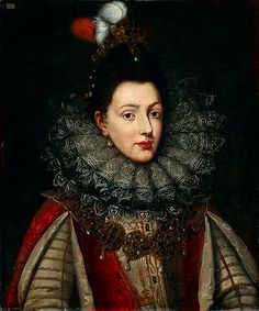 VIRGINIA De' MEDICI DUCHESSA DI MODENA  (1568-1615). illegitimate daughter of Cosimo I de' Medici, Grand Duke of Tuscany and Camilla Martelli. She was the Duchess of Modena and Reggio by marriage to Cesare d'Este, Duke of Modena.