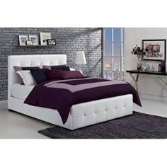 Add bold and modern excitement to your bedroom with the Dorel Florence Bed in Brown. The contemporary bed has both a headboard and footboard that have been tufted for a crisp, classic look. The frame of the bed, headboard and footboard are made sturdy all wood material. The bed is upholstered in faux leather and padded for complete comfort. This chic bed will pair beautifully with light or bright bedding. This full size bed is exactly what you've been looking for—even if you...