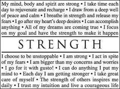 Words I need to live by more often.....a good affirmation to say each morning and throughout the day!!!!