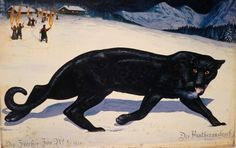 Walton Ford's Six New Paintings of a Panther's Journey to Freedom Walton Ford, Female Black Panther, Grandeur Nature, Illustrated Words, Arte Obscura, King Kong, Wildlife Art, Natural History, Big Cats