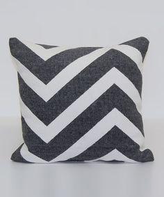 Look what I found on #zulily! Black Zigzag Chindi Throw Pillow #zulilyfinds