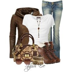 Brown with Jeans