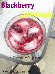 Blackberry Lemonade #15MinuteSuppers