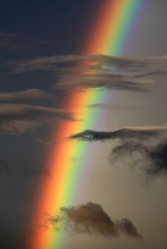 Rainbow over College Station, Texas. looks like a hologram in the sky