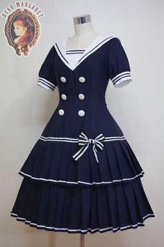 DRESS One Piece (OP) | Classical Doll Sailor - Dear Margaret |:| Lolita