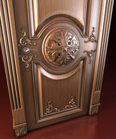 Main Entrance Door Design, Wooden Front Door Design, Double Door Design, Door Gate Design, Wooden Front Doors, Door Design Interior, House Main Door, Modern Exterior Doors, Wood Sculpture