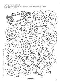 free astronaut maze worksheet 1 is part of Space preschool - Worksheets For Kids, Kindergarten Worksheets, Printable Mazes For Kids, Kids Mazes, Free Printables, Printable Preschool Worksheets, Book Activities, Preschool Activities, Planets Preschool