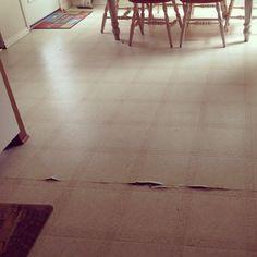 Old kitchen floor. Ick.