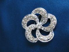 Vintage Rhinestone Brooch Wedding Brooch by greenleafvintage1, $18.99