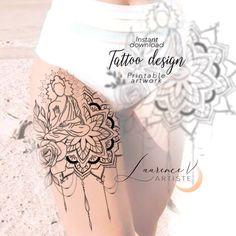 Arrow Tattoo Design, Moon Tattoo Designs, Floral Tattoo Design, Mandala Tattoo Design, Lotus Tattoo, Arm Tattoo, Hand Tattoos, Line Art Tattoos, Great Tattoos