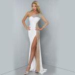 Stunning White Floor Length Dress Prom