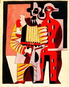 Pierrot and harlequin - Pablo Picasso, 1920 http://www.wikipaintings.org/en/pablo-picasso/pierrot-and-harlequin-1920#supersized-artistPaintings-224244