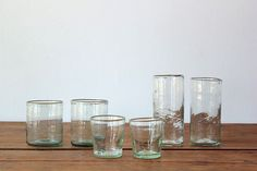 FRENCH HANDBLOWN GLASSWARE BELL WATER GLASS