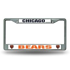 Chicago Bears NFL Chrome License Plate Frame