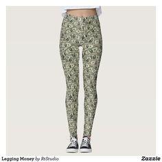 Shop Legging Money created by RtStudio. Woman Yoga, Leggings Fashion, Black Leggings, Dressmaking, Yoga Pants, Things That Bounce, Sweatpants, Money, Shopping