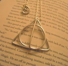Deathly Hallows Inspired Necklace / Large Size / by Cortalito