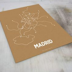 Madrid Screen Print Orange now featured on Fab.