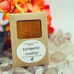 Turmeric and Rosehip Soap; Exfoliating Bar; Skin Brightening; Acne Spot Remover; Dark Spots Remover; Dark Inner Thigh; Dark Underarms; by SoapsAndButtersLA on Etsy Citrus Essential Oil, Essential Oil Blends, Rose Toner, Exfoliating Gloves, Inflammation Causes, Acne Spots, Lighten Skin, Rosehip Oil, Inner Thigh