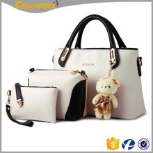 d80060be3894 Buy Women Multi-Purpose set Purse PU Leather Clutches Tote Bag Top-handle  Shoulder Handbags - Offwhite - and More Discount Women Satchels Sale up to  off.