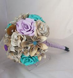 Bridesmaid Flowers, Bridal Flowers, Wedding Bouquets, Paper Bouquet, Diy Bouquet, Book Flowers, Paper Flowers, Flower Arrangements Simple, Geek Wedding