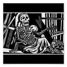 """Mother and Child Skeletons"" by Leopoldo Mendez. Print         	  	  		  		 		 		  			 			  					   					  			 		   		  		 		  		 			 			  ""Mother and Child Skeletons"" by Leopoldo Mendez. Print   		 			 			  		  		 	   	   tagged with: the day of the dead, dia de los muertos, mexico, grim reaper, santa muerte, skeleton, skull, grave, cemetery, calavera, calaveras, day of the dead, skulls, skeletons, bone, bones    ""Mother and Child Skeletons"" by Leopoldo Mendez. Mexico. The Day of.."