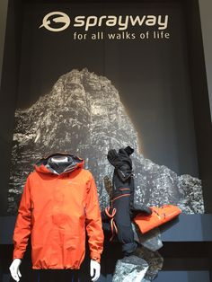 Sprayway mountain wear. ISPO 2015. Colour merchandising.