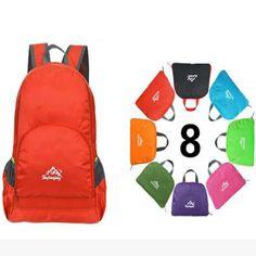 2016 women men fashion waterproof nylon  folding Backpack School Shoulder Bag casual travel bag large capacity backpack man bag