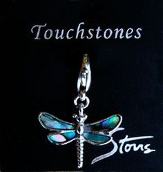 Abalone Shell Dragonfly Charm